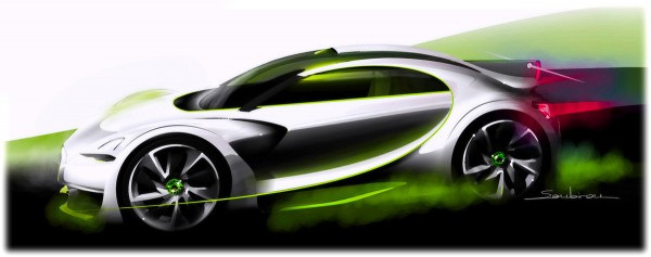 2010 Citroen Survolt Concept Sketch