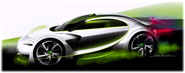 2010 Citroen Survolt Concept Sketch