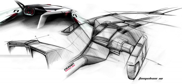 2010 Citroen Survolt Concept Interior Sketch