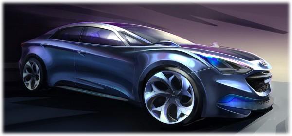 2010 Hyundai i-Flow Concept Sketch