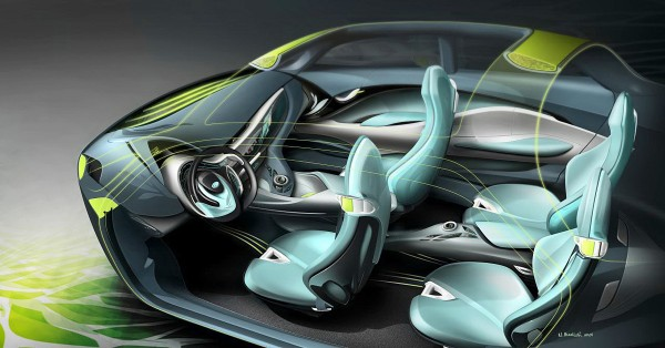 2010 Hyundai i-Flow Concept Interior Sketch