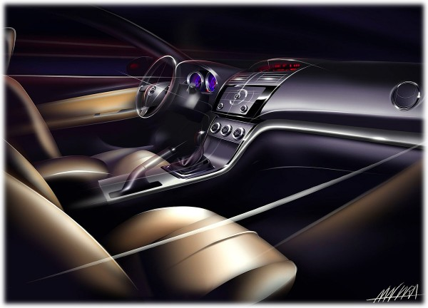 2009 Mazda 6 - Рисунок интерьера автомобиля бизнес класса