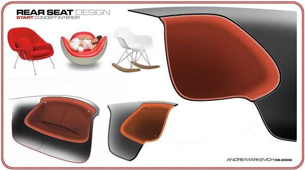 2010 Ford Start Concept - Концепт Интерьер Авто Дизайн