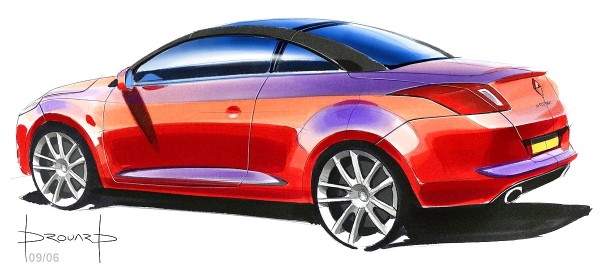 2011 Renault Megane Coupe-Cabriolet - Дизайн рисунок кабриолета