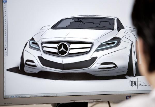 2012 Mercedes-Benz CLS-Class - скетч автомобиля