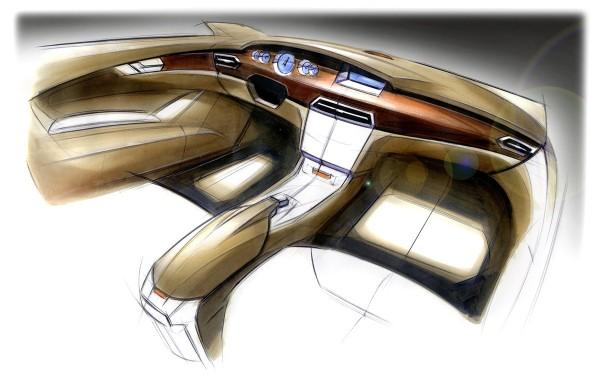 2012 Mercedes-Benz CLS-Class - скетч интерьера автомобиля