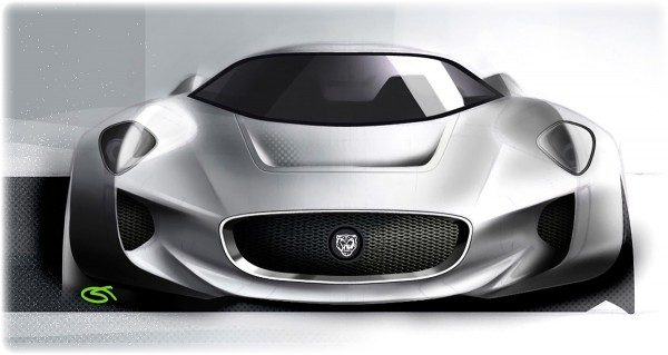 2010 Jaguar C-X75 Concept - рисунок, скетч