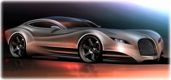 2010 Morgan EvaGT Concept, концепт рисунок.