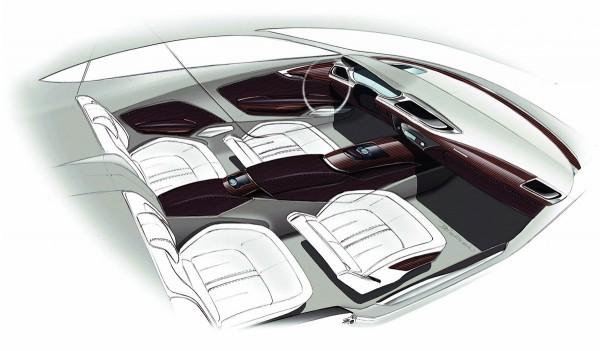 2011 Audi A7 Sportback Скетчи интерьера