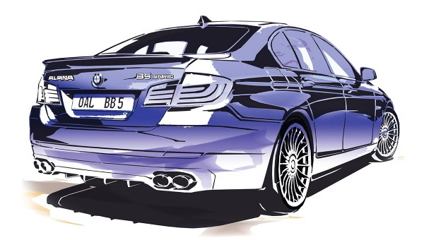 2011 BMW Alpina B5 Bi-Turbo Sketch