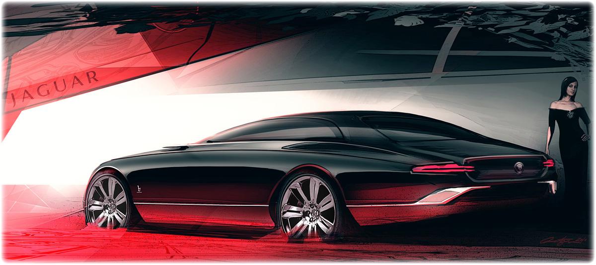 2011 Bertone Jaguar B99 Concept Sketch Design