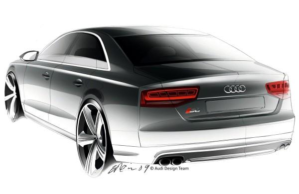 2012 Audi S8 - sketch
