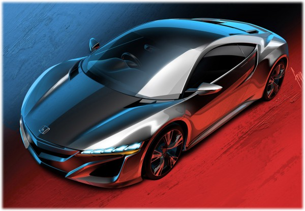 2012 Honda NSX Concept - sketch