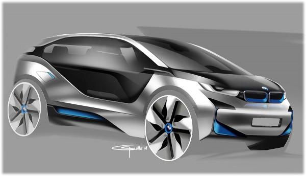 2011 BMW i3 Concept - sketch