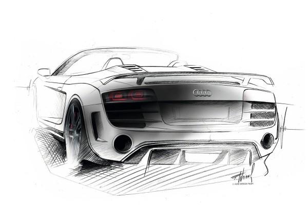 2012 Audi R8 GT Spyder - sketch