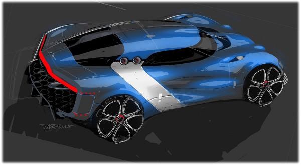 2012 Renault Alpine A110-50 Concept - sketch