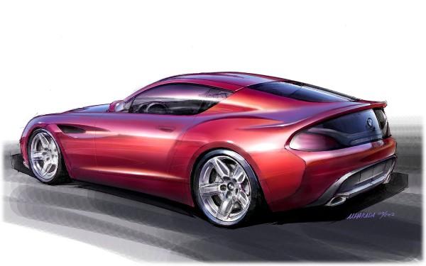 2012 BMW Zagato Coupe - sketch