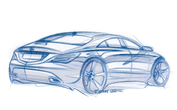 2012 Mercedes-Benz Concept Style Coupe - sketch