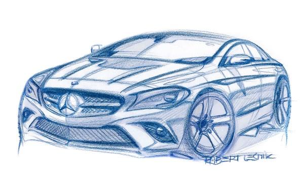 2012 Mercedes-Benz Concept Style Coupe - sketch