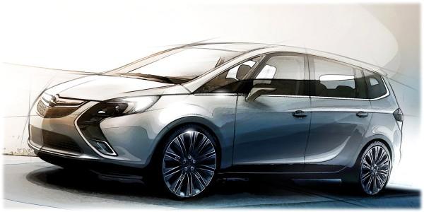 2012 Opel Zafira Tourer - sketch