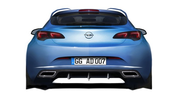 2013 Opel Astra OPC - sketch