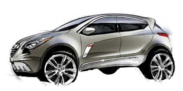 2013 Opel Mokka - sketch