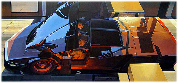 Syd Mead - Retro future portfolio - sketch