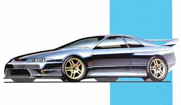 1993 Nissan Skyline R33 - cardesign sketch