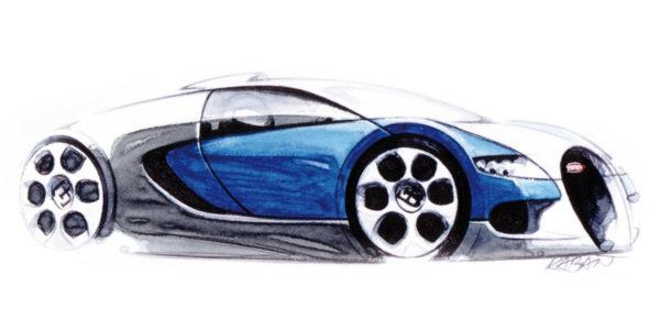 2009 Bugatti Veyron - Sketch
