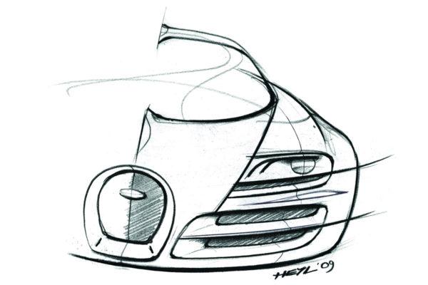 2011 Bugatti Veyron Super Sport - Sketch