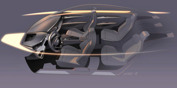 2018 Audi e-tron GT Concept - Interior Sketch
