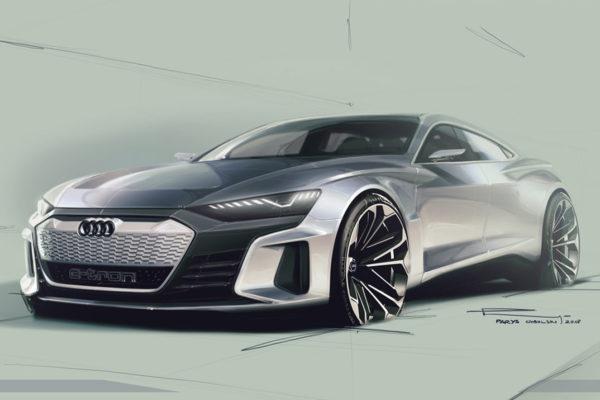 2018 Audi e-tron GT Concept - Sketch