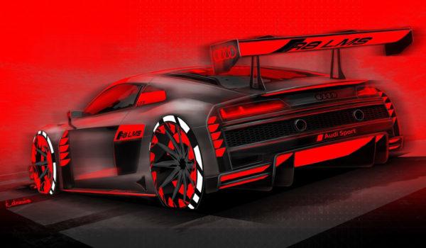 2019 Audi R8 LMS GT3 - Sketch