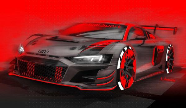 2019 Audi R8 LMS GT3 - Рисунок гоночного автомобиля