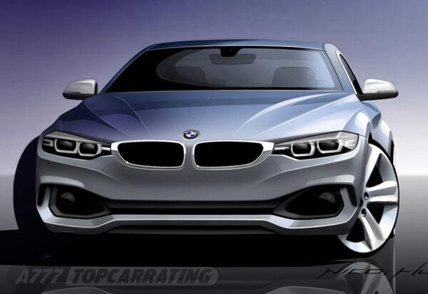 Рисунок автомобиля BMW 4-Series Coupe (F32) 2014 - Официальные скетчи