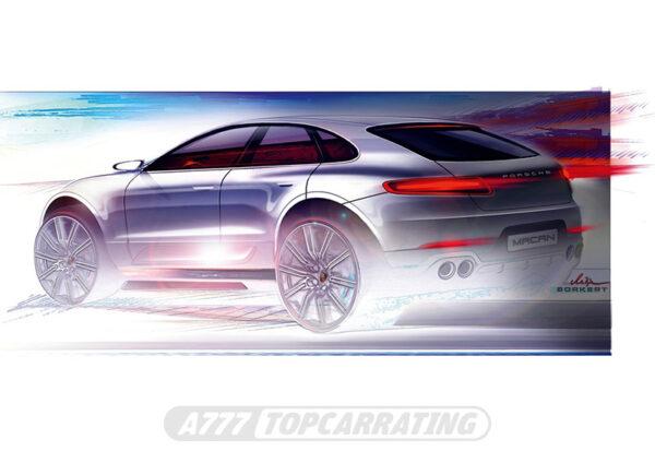 Рисунок автомобиля Porsche Macan Turbo 2014