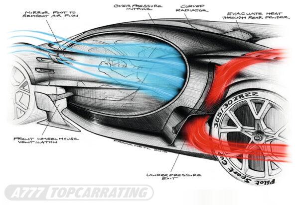 Рисунок автомобиля Bugatti Vision Gran Turismo Concept 2016