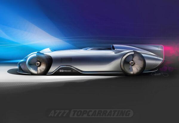 Рисунок автомобиля Mercedes-Benz Vision EQ Silver Arrow Concept 2018