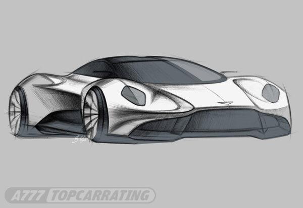 Рисунок автомобиля Aston Martin Vanquish Vision Concept 2019