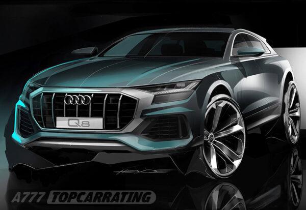 Рисунок автомобиля Audi SQ8 TDI 2020 - Официальные скетчи