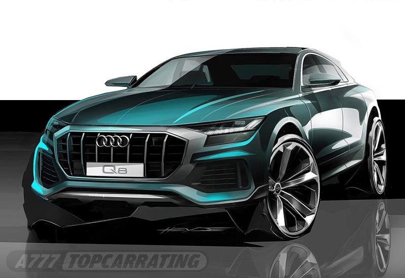 Рисунок автомобиля Audi Q8 2019