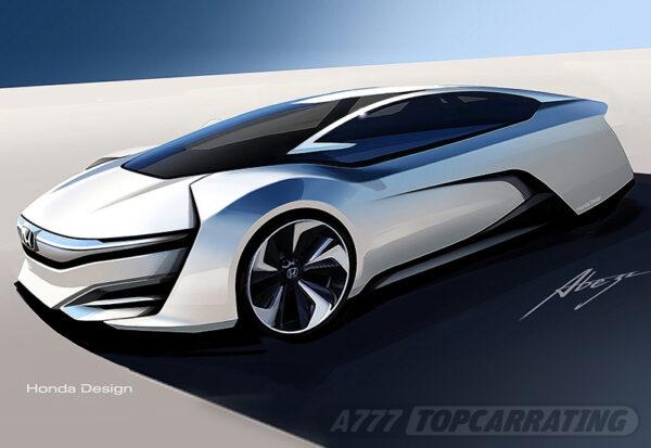 Рисунок автомобиля Honda FCEV Concept 2013