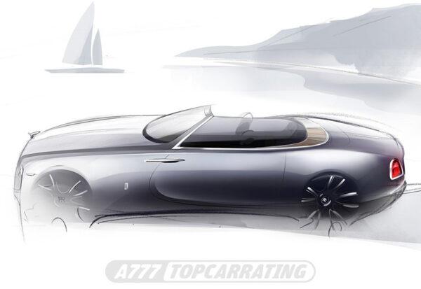 Рисунок автомобиля Rolls-Royce Dawn 2016