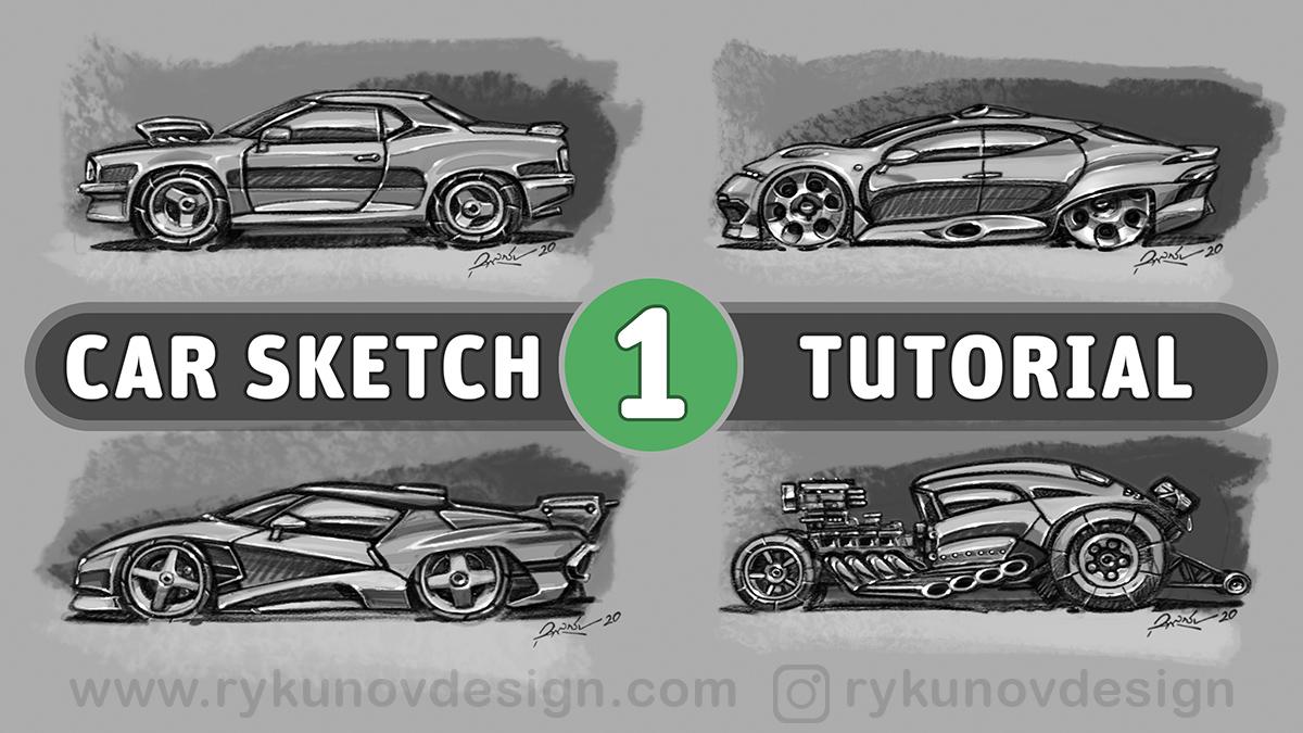 Как нарисовать машину - видео скетчи